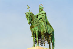 Budapest Ungarn König Stephen Statue Stockfotos