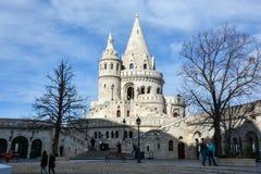 BUDAPEST, UNGARN - 12. MÄRZ 2018: Fishermans-Bastion in Budape Lizenzfreies Stockbild