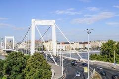 Budapest Ungern Europa bro elizabeth Royaltyfri Bild