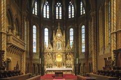 Budapest Ungern Europa kyrka matthias Royaltyfria Foton