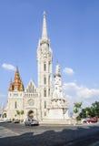 Budapest Ungern Europa kyrka matthias fotografering för bildbyråer