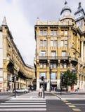 Budapest Ungern Europa perspektivisk förkortning royaltyfri fotografi
