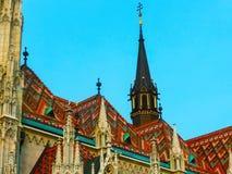 Budapest Ungern - Januari 03 2015: Roman Catholic Matthias Church Arkivbild