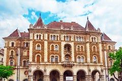 BUDAPEST UNGERN, - MAJ 02, 2016: Dreschler Slott-ursnygg bui Royaltyfria Bilder