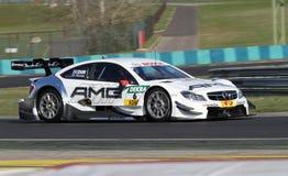 Budapest Ungern, mars 30 - 2014 DTM Mercedes f Arkivfoton