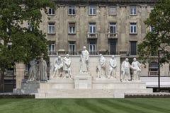 Budapest Ungern - monument till Lajos Kossuth Fotografering för Bildbyråer
