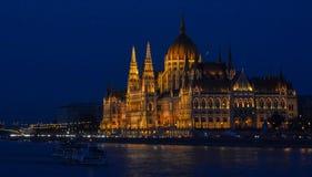 Budapest Ungern (parlamentet) Arkivfoto