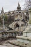 BUDAPEST, UNGHERIA - 10 DICEMBRE 2015: Il bastione dei pescatori a Budapest Fotografie Stock