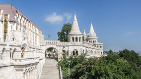BUDAPEST, UNGHERIA, - 21 LUGLIO 2015: Distretto del castello Fotografia Stock Libera da Diritti