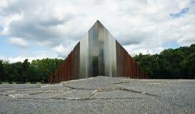 BUDAPEST, UNGHERIA - 15 07 2015 - monumento del ferro di arte moderna nel parco fotografie stock libere da diritti