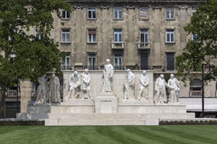 Budapest, Ungheria - monumento a Lajos Kossuth Immagine Stock