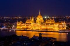 budapest ungrareparlament Arkivbild
