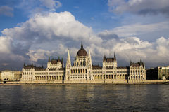budapest ungrareparlament Royaltyfria Foton