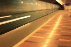 Budapest-UntergrundbahnBewegungszittern Stockfotografie