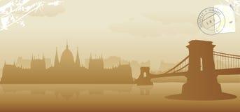 Budapest vector illustration. Budapest skyline vector illustration design Stock Photography