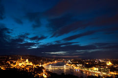 Budapest view. Photographed from the Gellert-hill stock photography