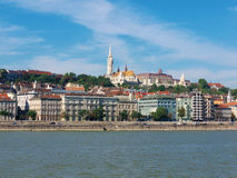Budapest view. With the Danube river and the Castle hill stock photography