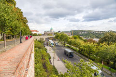 Budapest. View of Buda and Buda Castle Royalty Free Stock Images