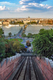 Budapest, view from Buda Castle funicular Stock Images