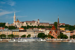Budapest, view of the Buda castle Stock Photos