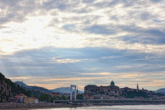 Budapest, view of Budaysky hills Royalty Free Stock Images