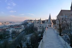 Budapest view from the castle Stock Image