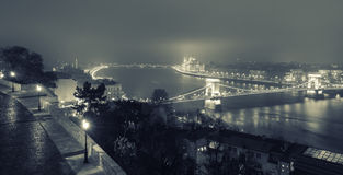 Budapest View On The Chain Bridge royalty free stock photo