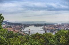 Budapest view with Danube Stock Photos