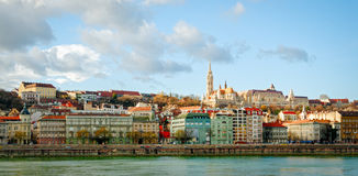 Budapest, view on Danube and Buda Royalty Free Stock Photos