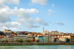 Budapest, view on Danube and Buda Stock Photography