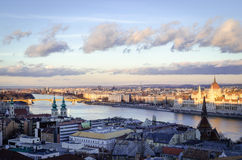 Budapest, view on Danube and Hungarian Parliament Stock Photo