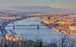 Budapest view from Gellert hill Royalty Free Stock Images