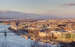 Budapest view from Gellert hill, Hungary Stock Photo