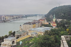 Budapest. View over the Danube in Budapest stock photos