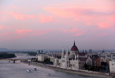 Budapest view with the Parliament Royalty Free Stock Photography