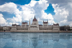 Budapest, view of parliament Stock Images