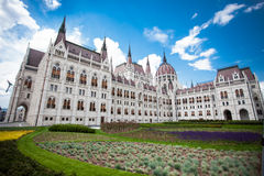 Budapest, view of parliament Stock Photos