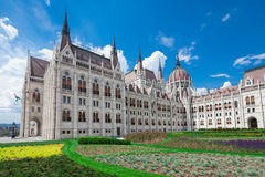 Budapest, view of parliament Royalty Free Stock Images