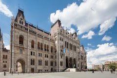 Budapest, view of parliament Stock Photo