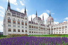 Budapest, view of parliament Royalty Free Stock Image