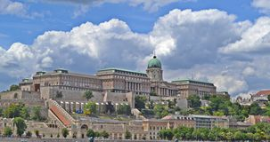 Budapest. View of the royal castle in Buda from Pest, Budapest, Hungary Royalty Free Stock Photos