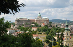 Budapest View of Royal Castle Stock Images