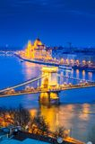Budapest, Węgry, Łańcuszkowy most fotografia stock