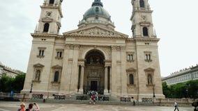 Budapest, Węgry, Czerwiec 2017: Bazylika święty Istvan, jeden piękni kościół katoliccy w Węgry zdjęcie wideo