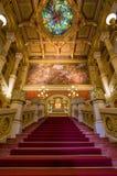 BUDAPEST WĘGRY, KWIECIEŃ, - 22: Wnętrze sala balowa dzwoniąca Zdjęcie Stock