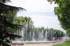 BUDAPEST, WĘGRY, LIPIEC 30, 2015: Śpiewacka fontanna jest jeden Obrazy Royalty Free