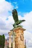 BUDAPEST, WĘGRY MAY 03, 2016: Eagle rzeźba Attila z Zdjęcie Stock