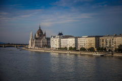 Budapest, Węgry, nabrzeże Zdjęcia Royalty Free