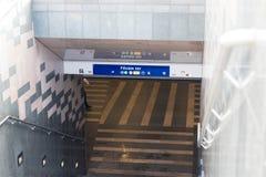 Budapest Węgry rocznika metra pociągu przerwy stary metro obraz stock