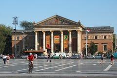 BUDAPEST WĘGRY, SIERPIEŃ, - 08, 2012: Budapest Hall sztuka lub pałac sztuka Mucsarnok Kunsthalle Zdjęcie Stock
